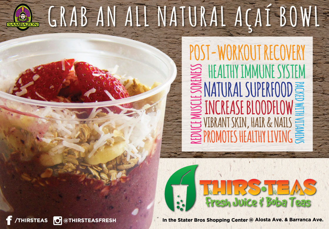 Acai bowl advertisement