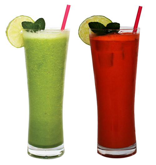 healthy drinks - smoothies and juice