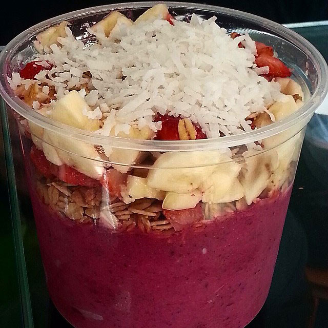 acai bowl with coconut and banana